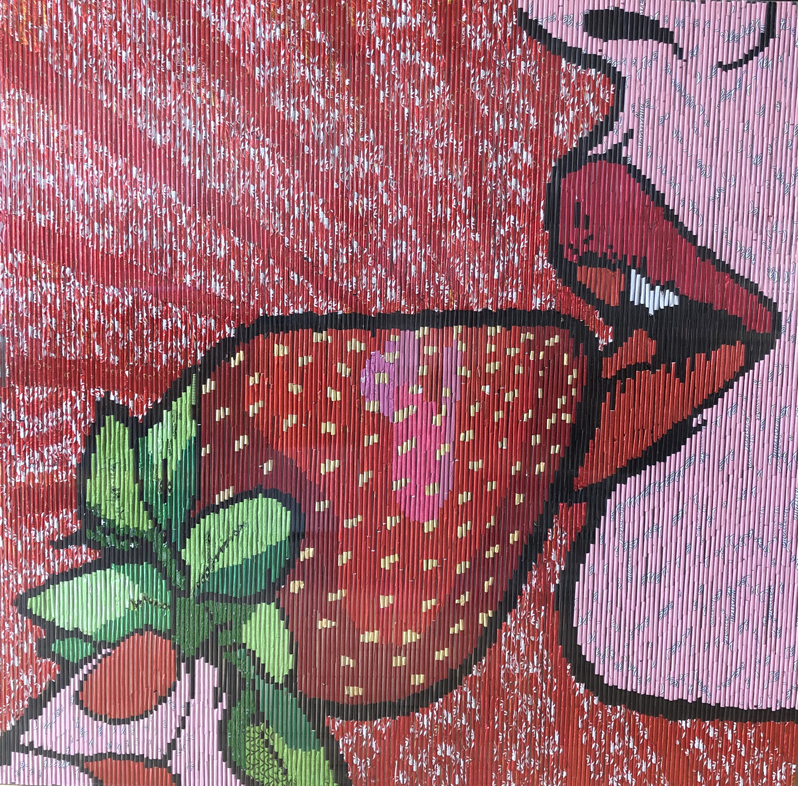 Popart Erdbeere RollingpiecesArt