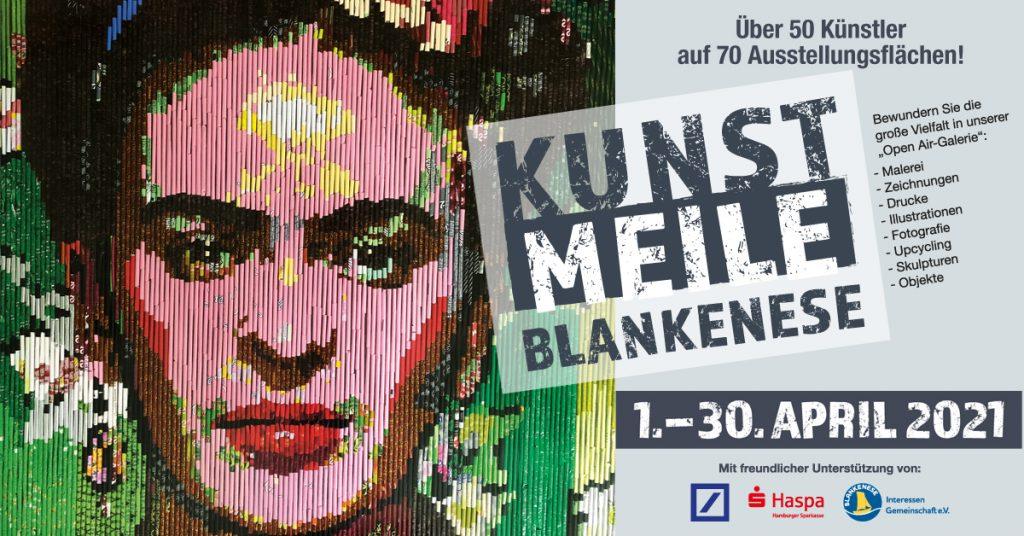 Ausstellungsplakat 2021 Blankeneser Kunstmeile